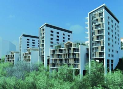 Riksbyggens planerade bostadsprojekt Brf Viva i Göteborg.