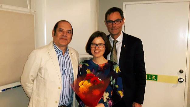 Från vänster: Samir Redha, Malin Löfsjögård och Mats Öberg.